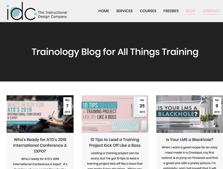 Instructional Design Company Blog