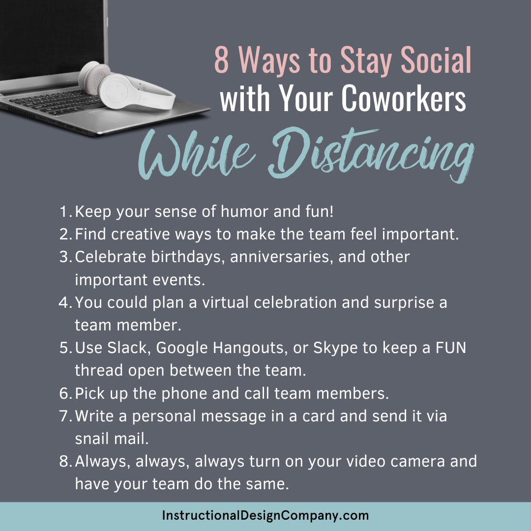 8 Ways to Stay Social with Your Coworkers While Distancing
