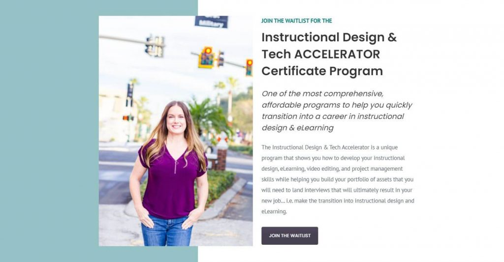 shawntay instructional designer accelerator Certificate program